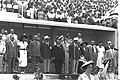 """YOSEF SPRINZAK DURING THE OPENING CEREMONY OF THE 3RD """"MACCABIA GAMES"""".JPG"""