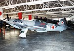 Yakovlev Yak-9U 'Frank' ADDITIONAL INFORMATION- (36, c-n 01815346). Photo taken of the aircraft on display at the Champlin Museum's in Mesa, AZ, in Oct 22, 1995. Once the Yak-9 36 was safely stored in (18392344451).jpg