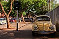 Yellow Volkswagen Beetle at the University of Pretoria.jpg