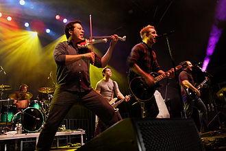 Sean Mackin (musician) - Mackin performing with Yellowcard in 2012