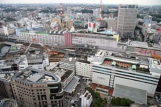 Yokohama Station - Yokohama Station viewed from above, October 2005