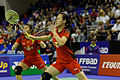 Yonex IFB 2013 - Quarterfinal - Tian Qing - Zhao Yunlei vs Misaki Matsutomo - Ayaka Takahashi 03.jpg