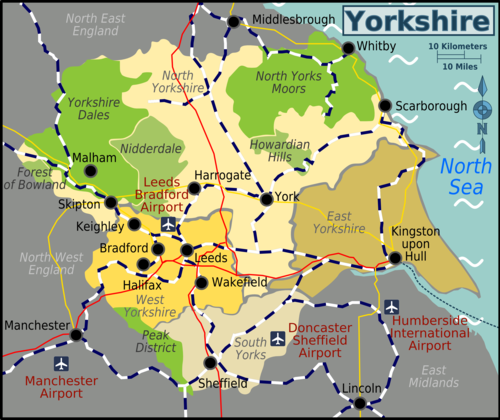Map Of South East England Counties.Yorkshire Travel Guide At Wikivoyage