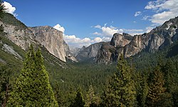 Yosemite National Park - Udsigt over Yosemite Valley