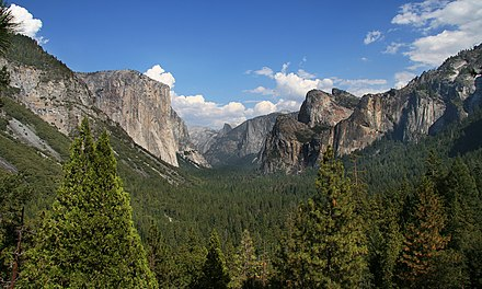 Yosemite National Park in California. One of the first protected areas in the United States YosemitePark2 amk.jpg