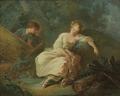 Young Couple in a Landscape (Jean-Baptiste Huet) - Nationalmuseum - 23722.tif