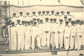 Polish Naval Academy - Cadets on board in 1938
