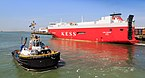 Zeebrugge Belgium Tugboat-Smit-Lion-and-Elbe-Highway.jpg