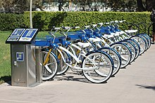 Zotwheels Bike Share at the University of California Irvine.