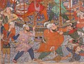 """Hamza's Heroes Fight in Support of Qasim and Badi'uzzaman"", Folio from a Hamzanama (The Adventures of Hamza) MET sf18-44-2e.jpg"
