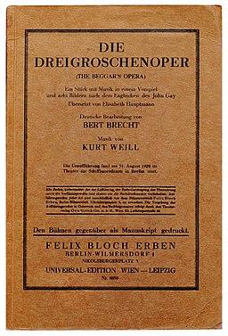 (1922) Brecht Dreigroschenoper
