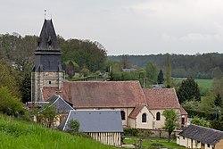 Église saint Georges, Montreuil-l'Argillé, France.jpg