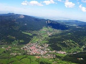 Železná Ruda - aerial view