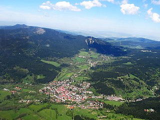 Železná Ruda Town in Plzeň, Czech Republic