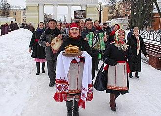 Mari people - Image: Масленица. Йошкар Ола2. 25 фев. 2017