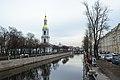 Набережная Крюкова канала. Вид на колокольню Николо-Богоявленского Морского собора с Кашина моста.jpg