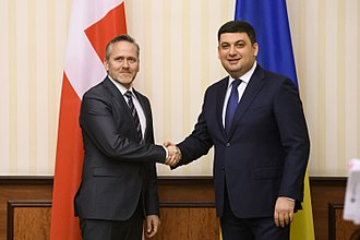 Anders Samuelsen - Anders Samuelsen and Volodymyr Groysman in Kiev, 2018