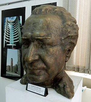 Alexander Sahinian - Bust of Alexandr Sahinian at the National Museum-Institute of Architecture of Armenia in Yerevan.