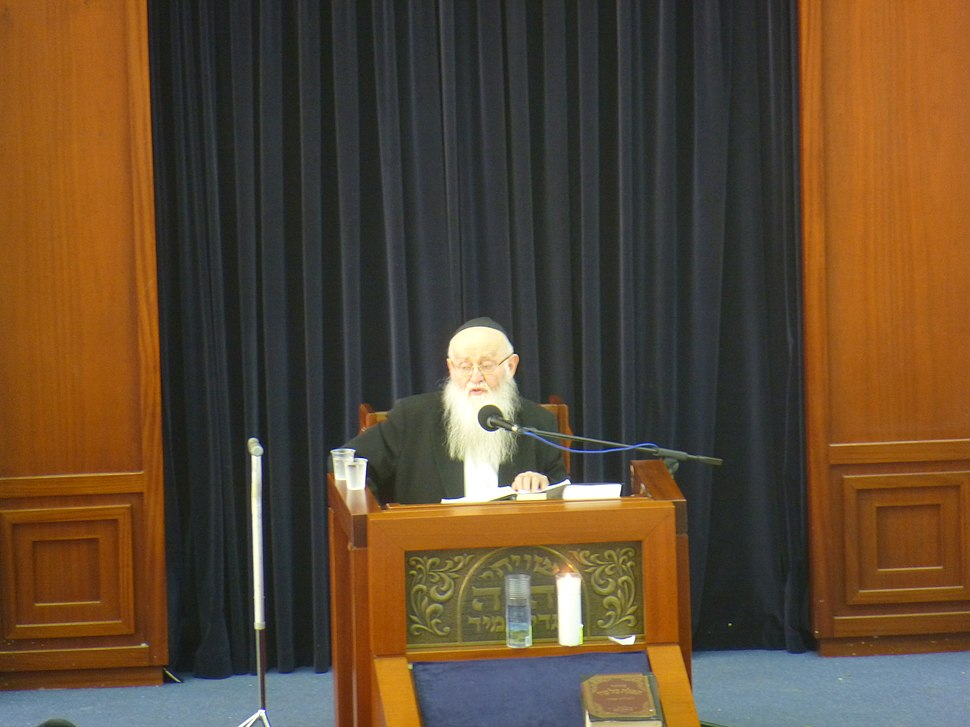 הרב רפאל שמואלביץ מוסר שיעור כללי בישיבת מיר ברכפלד