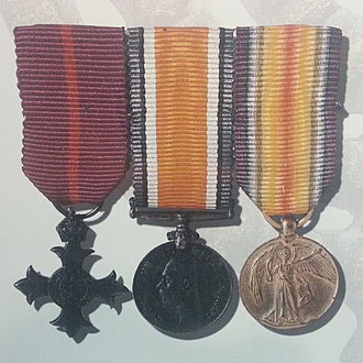 Ze'ev Jabotinsky - Miniatures of the MBE, British War Medal and Victory Medal awarded to Jabotinsky