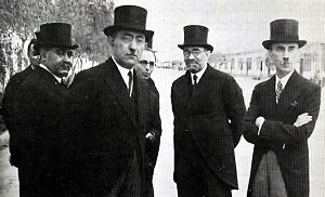Mohammad Ali Foroughi - Foroughi with Ali Mansour, Mostafa Gholibayat, Aliakbar Davar and Mahmoud Jam.