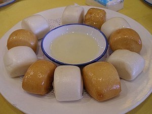 Chinese desserts - Steamed and deep fried Mantou, often served with sweetened condensed milk as a dessert