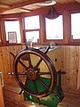 -2009-09-12 Wheel house, Lydia Eva Steam Drifter, South Quay, Great Yarmouth (1).JPG