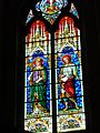 -Kathedrale St.Trophime1078-1152Bunte Bleiglasfenster benannt nach dem ersten Bischof(3.Jh.n.Chr)vonArles-Innenraum.JPG