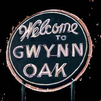Gwynn Oak Park - Sign at entrance to Gwynn Oak Amusement Park