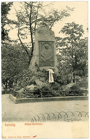 Karl Ferdinand Adam - Memorial in Leisnig (1905)