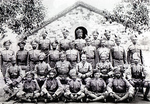89th Punjabis - Gallantry Award recipients of 89th Punjabis with Lt Col NM Geoghegan, DSO, Nowshera, 1917.