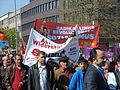 1. Mai 2013 in Hannover. Gute Arbeit. Sichere Rente. Soziales Europa. Umzug vom Freizeitheim Linden zum Klagesmarkt. Menschen und Aktivitäten (194).jpg