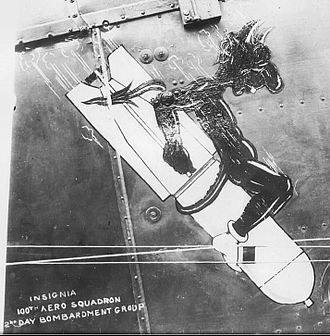 100th Aero Squadron - Squadron Emblem, painted on the fuselage of DH-4.
