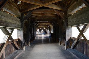 Holzbrücke Bad Säckingen - Image: 120827 Bad Säckingen 04