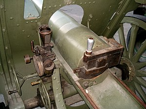 122 mm howitzer M1910/30 - M1910/30 in Military Museum of Finland, Helsinki.
