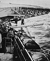 127 mm gun aboard USS Wasp (CVS-18), circa in September 1957.jpg