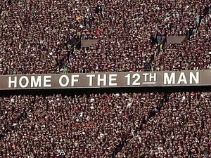 12th man (football) - Image: 12th Man trademark slogan at Kyle Field, Texas A&M