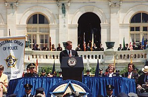 Vice presidency of Al Gore - Gore speaking at the 1998 National Peace Officers' Memorial Service