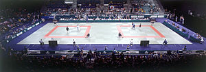 Judo at the 2000 Summer Paralympics - Panoramic view of the Judo venue during competition at the 2000 Summer Paralympics