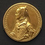 1555 gold medal Queen Mary I of England.jpg
