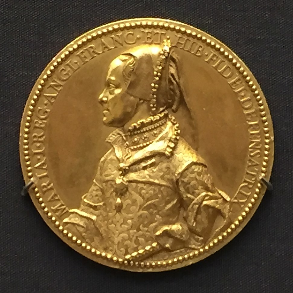 1555 gold medal Queen Mary I of England