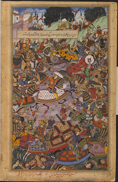 File:1561-The Victory of Ali Quli Khan on the river Gomti-Akbarnama.jpg