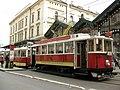 159 Tramvia a Havlíčkova Ulice, davant l'Estació Masaryk.jpg