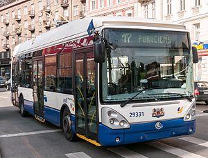Rīgas Satiksme - Škoda trolleybus