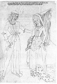 Maximilian I. und seine Gemahlin Maria von Burgund. Anonym, 2.Hälfte 15. Jh. (Quelle: Wikimedia)
