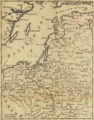 1757 Revel detail of map Russians March to Prussia BPL 14326.png