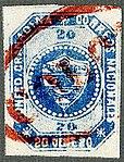 1859 20c Confed.Granadina oval red COLON Sc6.jpg