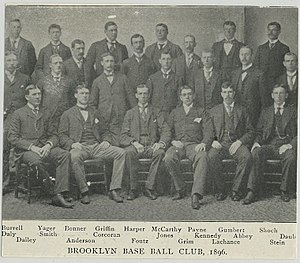 1896 Brooklyn Bridegrooms season - Image: 1896brooklynteam