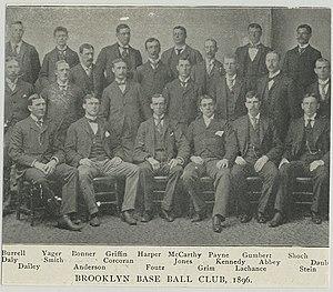 1896 Brooklyn Bridegrooms season - Image: 1896brooklynteam