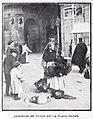 1907-12-28, Blanco y Negro, El comercio callejero en las Pascuas, Goñi (cropped) Comercio de pavos en la Plaza Mayor.jpg